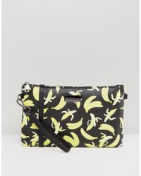 Claudia Canova - Banana Print Clutch Bag With Chain - Lyst