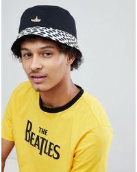 5dd6653807307 Pretty Green - X The Beatles Heywood Reversible Bucket Hat In Black - Lyst