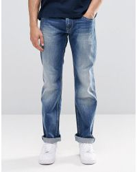 Pepe Jeans - Pepe Hatch Slim Jeans E64 Mid Blue Distressed - Lyst