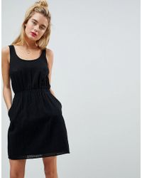 ASOS DESIGN - Asos Casual Mini Dress In Grid Texture - Lyst
