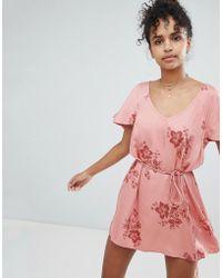 Billabong - Floral Beach Dress - Lyst