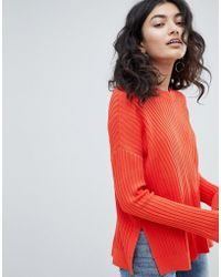 Weekday - Ribbed Knit Jumper - Lyst