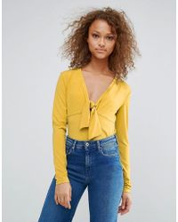 Oeuvre - Tie Front Blouse - Lyst