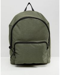 ASOS - Backpack In Khaki Texture - Lyst