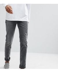 ASOS - Tall Skinny Jeans In Vintage Washed Black - Lyst