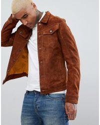 Goosecraft - Western Suede Jacket In Brown - Lyst