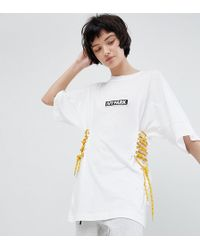 Ivy Park - Football T-shirt With Lace Up Sides - Lyst