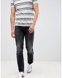 Jack & Jones - Intelligence Tim Slim Fit Turn Up Jeans In Black - Lyst