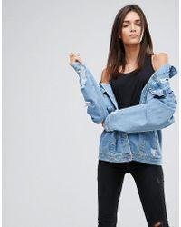 Uncivilised - Oversized Ripped Denim Jacket - Lyst