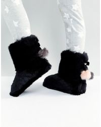 Ted Baker - Hamond Faux Fur Bootie Slippers - Lyst