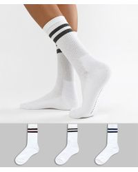 French Connection - Stripe Multipack Socks - Lyst