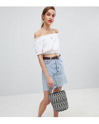 Reclaimed (vintage) - Revived Levi's Mini Skirt In Light Wash - Lyst