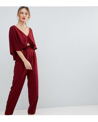 fa8a1633e3a ASOS - Asos Design Tall Jumpsuit With Kimono Sleeve And Peg Leg - Lyst