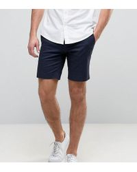 Only & Sons | Skinny Shorts In Cotton Sateen | Lyst