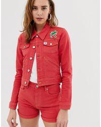 Pepe Jeans - Frida Red Denim Jacket - Lyst