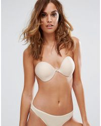 e2aed394fe53d Lyst - Fashion Forms Women s Seamless Ultralite Push-up Bra - Nude ...