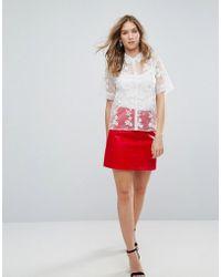 Traffic People - Pu A Line Skirt - Lyst