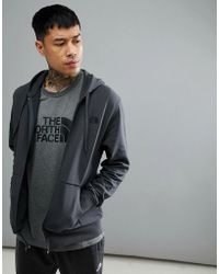 The North Face - Open Gate Full Zip Hoodie Lightweight In Dark Grey - Lyst