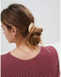 Orelia - Brushed Semi Circle Barrette Hair Clip - Lyst
