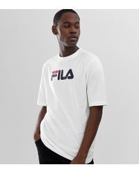 eb0bb895 Fila Vintage Lounge T-shirt With Logo In White in White for Men - Lyst