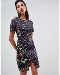French Connection - Bluhm Floral Print Pencil Dress - Lyst