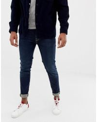 SELECTED - Skinny Fit Jeans In Mid Blue Wash - Lyst