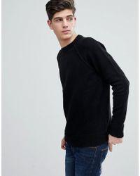 Mango - Man Textured Knit Jumper In Black - Lyst