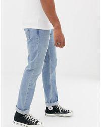 Hollister - Slim Fit Light Wash Jeans - Lyst