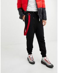 ASOS - Drop Crotch joggers With Taping In Black - Lyst