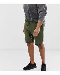 ASOS - Pantalones cortos de camuflaje con extensin en el bajo de Plus - Lyst