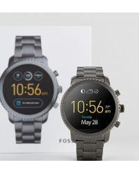 Fossil - Q Ftw4001 Explorist Bracelet Smart Watch In Gunmetal - Lyst