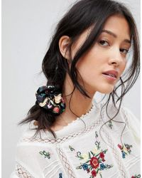 ASOS - Design Scrunchie Hair Tie In Summerfruits Print - Lyst
