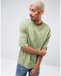 PUMA - Oversized Double Hemmed T-shirt In Green Exclusive To Asos - Lyst