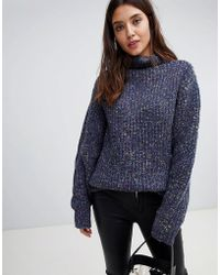 Blank NYC - Roll Neck Knit In Nep - Lyst