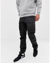 G-Star RAW - Rovic - Pantaloni cargo neri 3D stretti in fondo - Lyst