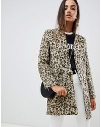 Missguided - Formal Tailored Coat In Leopard - Lyst