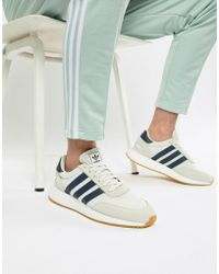 944f962820c adidas Originals - I-5923 Boost Suede Sneakers In White B37947 - Lyst