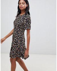 Whistles - Peony Print Flippy Mini Dress - Lyst
