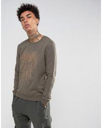Black Kaviar - Sweatshirt In Khaki With Phoenix Embroidery - Lyst