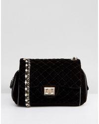 Marc B. | Knightsbridge Velvet Crossbody Bag With Pearl Straps | Lyst