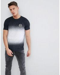 Hype - Muscle T-shirt In Black Speckle Fade - Lyst
