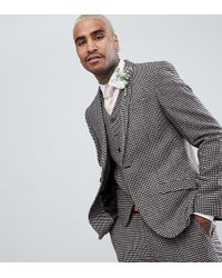 Heart & Dagger - Skinny Wedding Suit Jacket In Dogstooth - Lyst