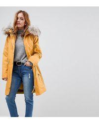 ASOS - Parka With Detachable Faux Fur Liner - Lyst