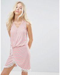Blend She | Simone Striped Wrap Dress | Lyst