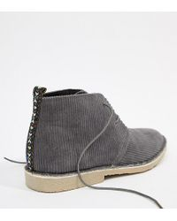 Desert Boots In Gray Cord