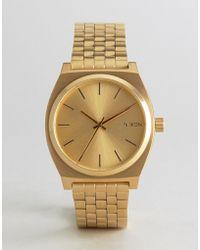 Nixon - Time Teller Bracelet Watch In Gold - Lyst