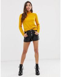 Muubaa Linaria High Waisted Leather Shorts