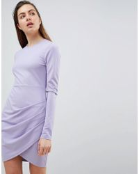 Ivyrevel - Long Sleeved Jersey Dress With Wrap Front - Lyst