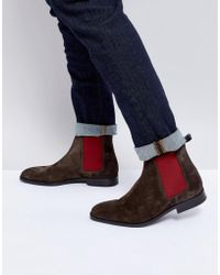 PS by Paul Smith - Gerald Suede Chelsea Boot In Dark Brown - Lyst