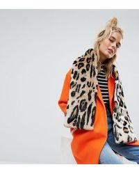 Urbancode   Leopard Print Faux Fur Scarf   Lyst